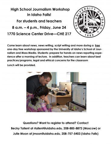 Free journalism workshop June 24 in Idaho Falls
