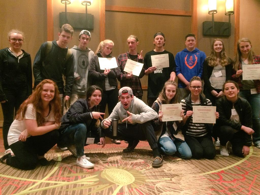 Idaho had nine student journalists win awards in the JEA's Write-Off competitions at the Denver Convention. Sandpoint High School (pictured) had six students win awards.