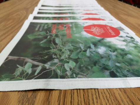 Staff of the Cedar Post -Sandpoint High School - produce a new-student tabloid as a fundraiser. The publication is handed out during a new-student orientation held before school starts.