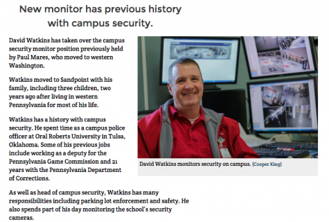 One of the more popular stories for the SHSCedarPost.com this year is about the school's new campus security monitor. A guiding principle for your publication's website is to think and emphasize local.