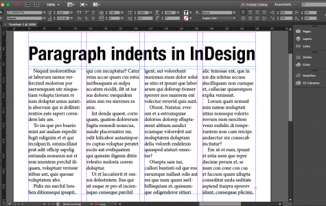 InDesign tip: Indents