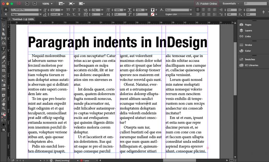 InDesign tip: Indents